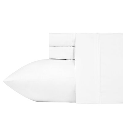 Fogarty Sateen Wonder Sheet Set Size: King, Color: Brilliant White