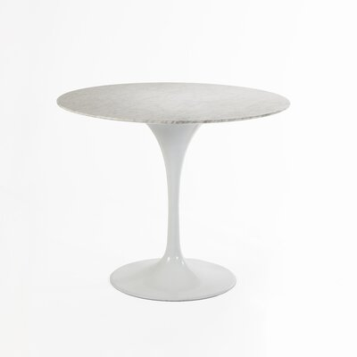 Marble Dining Table Size: 28.35 H x 31.5 W x 31.5 D