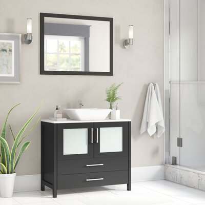 Karson 36 Single Bathroom Vanity Base Finish: Espresso