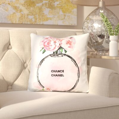 Isis Round Perfume Pale Peony Throw Pillow