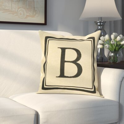 Beaver Creek Monogram Throw Pillow Letter: B