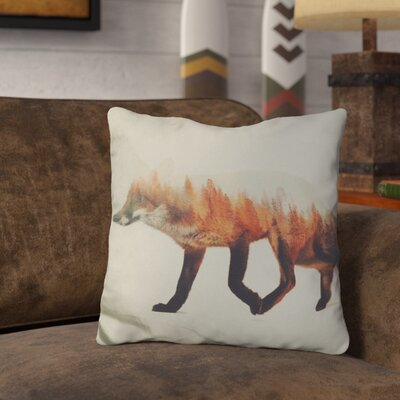 Leonidas the Fox Norwegian Woods Throw Pillow