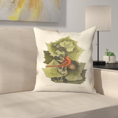 The Redbird Throw Pillow Size: 14 x 14