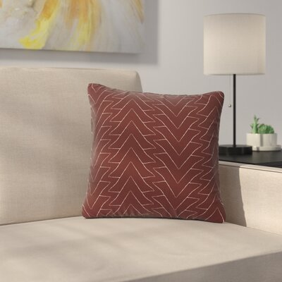 Julia Grifol Triangles Pattern Outdoor Throw Pillow Size: 16 H x 16 W x 5 D
