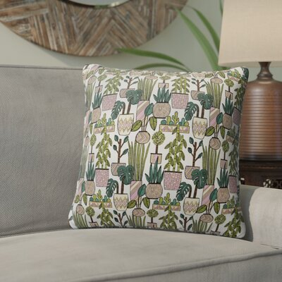 Christen Plant Indoor/Outdoor Throw Pillow Size: 26 H x 26 W