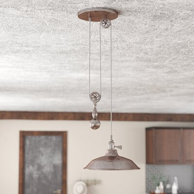 Ariel 1-Light Mini Pendant Finish: Tarnished Silver