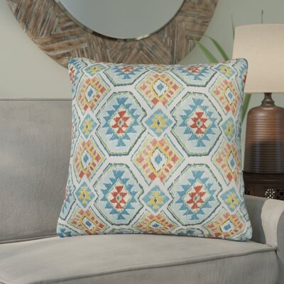 Broadway Indoor/Outdoor Polyester Throw Pillow Color: Blue/Orange