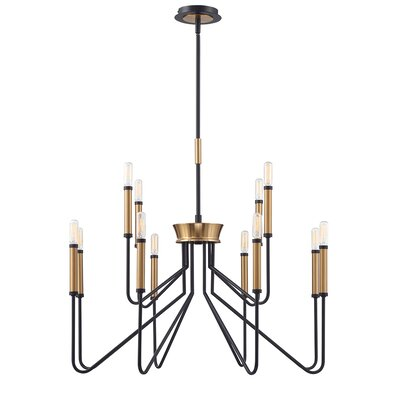Hofer Duo-Tone 12-Light Candle-Style Chandelier