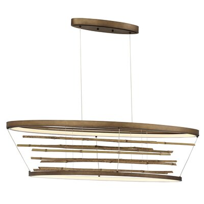 Dayton Bamboo Oval LED Kitchen Island Pendant