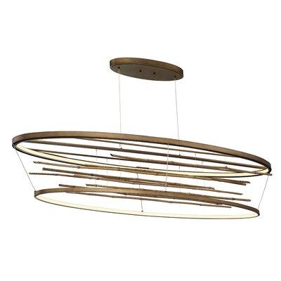 Dayton Bamboo Oval LED Geometric Pendant