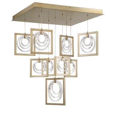 Luman Glass Rings 9-Light LED Cluster Pendant