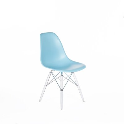 Cervantes Mid-Century Dining Chair Color: Blue