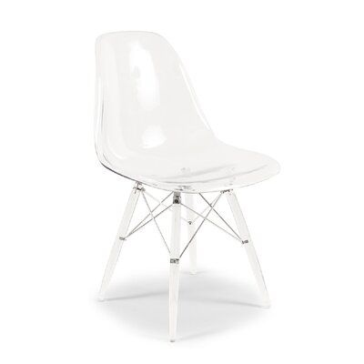 Cervantes Mid-Century Dining Chair Color: Clear