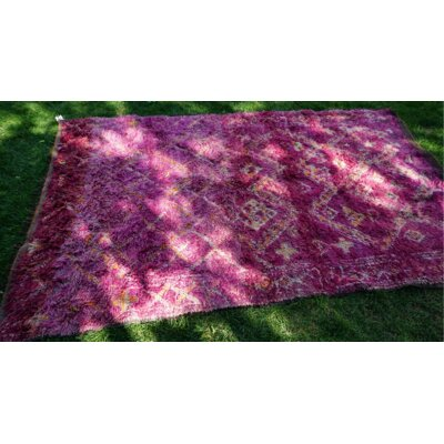 One-of-a-kind Duv Boujad Hand-Woven Wool Purple Area Rug
