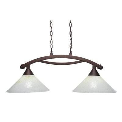 Blankenship 2-Light 100W Steel Kitchen Island Pendant Color: Brushed Nickel