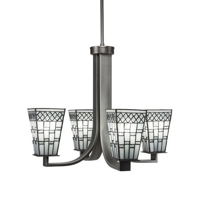 Eurig 4-Light Graphite Shaded Chandelier