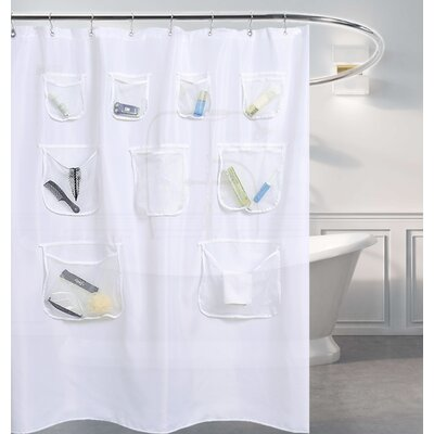 Kidd Mesh Pockets Shower Curtain