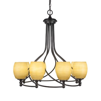 Capri 8-Light Shaded Chandelier Shade Color: Cayenne Linen