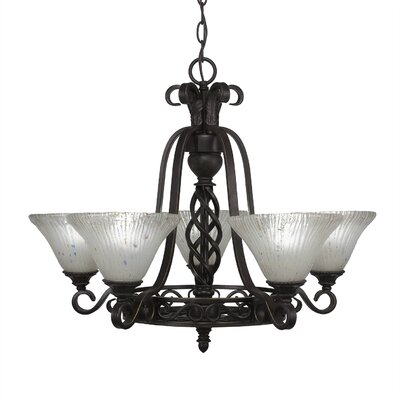 Elegant� 5-Light Shaded Chandelier Shade: Frosted Crystal Glass