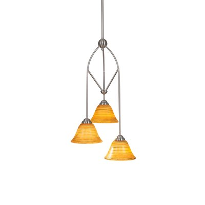 Contempo 3-Light Multi Mini Pendant With Hang Straight Swivel Shade Color: Firre Saturn