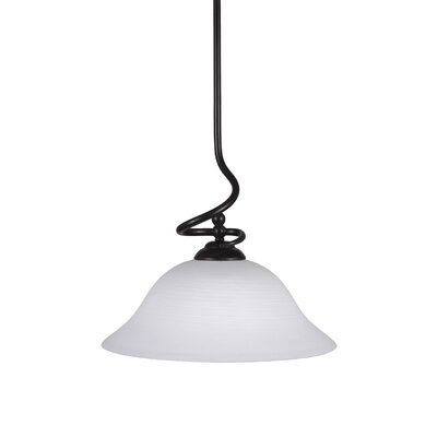 Capri Stem Pendant With Hang Straight Swivel Shade Color: White Linen