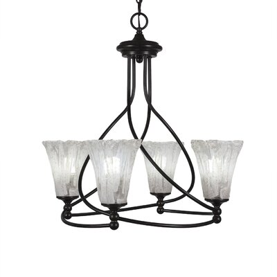 Capri 4-Light Shaded Chandelier Shade Color: Italian Ice