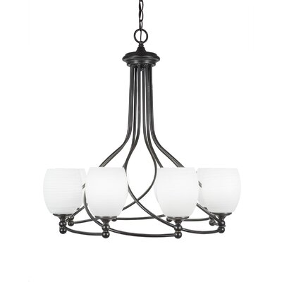 Capri 8-Light Shaded Chandelier Shade Color: White Linen