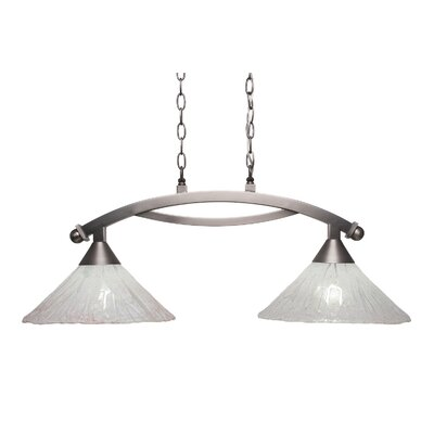 Eisenhauer 2-Light Metal Kitchen Island Pendant Finish: Brushed Nickel