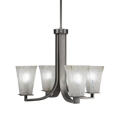 Elburn 4-Light Graphite Shaded Chandelier
