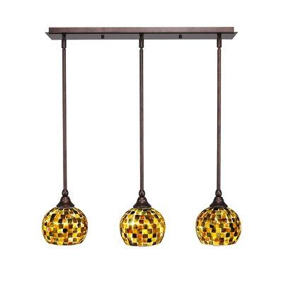 3-Light Multi Light Mini Pendant With Hang Straight Swivels Finish: Bronze