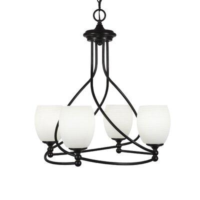 Capri 4-Light Shaded Chandelier Shade Color: White Linen