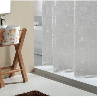 Peralez 3D Blocks PEVA Vinyl Shower Curtain