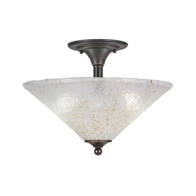 2-Light Semi Flush Mount Finish: Dark Granite