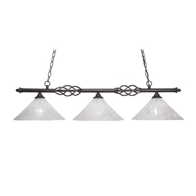 Elegante 3-Light Kitchen Island Pendant