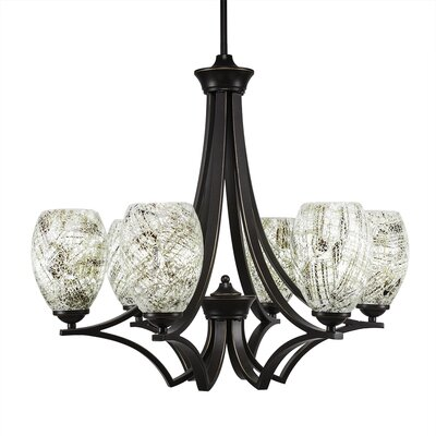 Zilo 6-Light Shaded Chandelier Shade Color: Natural