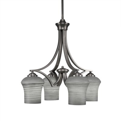 Zilo 4-Light Shaded Chandelier Shade Color: Gray