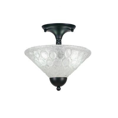 2-Light Semi Flush Mount