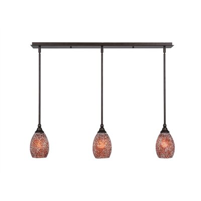 Any 3-Light Kitchen Island Pendant Finish: Dark Granite, Shade Color: Red