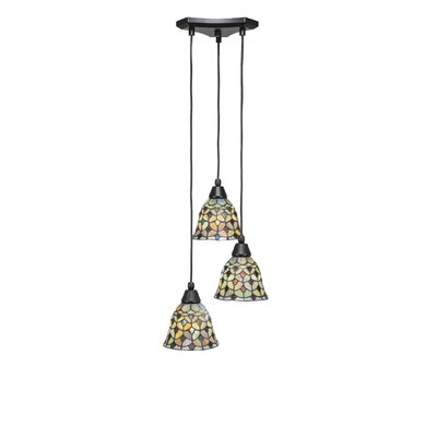 Europa 3-Light Cascade Pendant