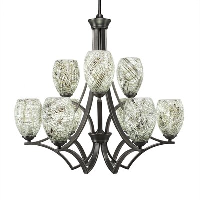 Zilo 9-Light Shaded Chandelier Finish: Matte Black