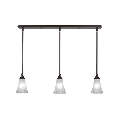 Any 3-Light Kitchen Island Pendant Finish: Bronze, Shade Color: Frosted