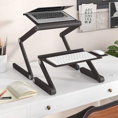 Avery 24 H x 18 W Standing Desk Conversion Unit Finish: Black