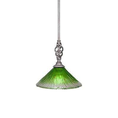 Elegante 1-Light Mini Pendant Size: 10.75 H x 10 W x 10 D