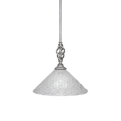 Elegante 1-Light Mini Pendant Size: 12.25 H x 12 W x 12 D