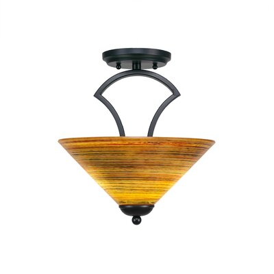 Zilo 2-Light Pendant Finish: Matte Black