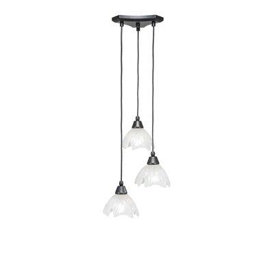Europa 3-Light Cascade Pendant Shade Color: Gold