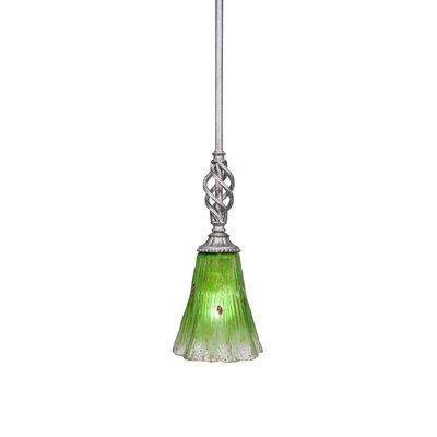 Elegante 1-Light Mini Pendant Size: 12.25 H x 5.5 W x 5.5 D