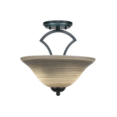 Zilo 2-Light Pendant Finish: Matte Black, Shade Color: Gray