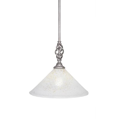 Elegante 1-Light Mini Pendant Size: 12 H x 12 W x 12 D