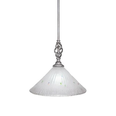 Elegante 1-Light Mini Pendant Shade Color: Frosted, Size: 12.5 H x 12 W x 12 D